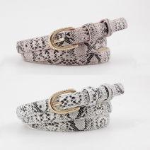 Belt / belt / chain Pu (artificial leather) Black, silver, white, dark camel, beige, pink, dark red, Zhangqing female belt Versatile Single loop youth Pin buckle alloy 105cm
