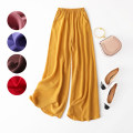 Casual pants Loose one size fits all trousers Wide leg pants Natural waist Versatile routine 96% and above silk silk