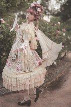 Fashion suit Spring of 2018 S. M, l, average size Apricot jsk, Navy jsk, grey blue jsk, brooch, back yarn (stock), hip curtain (stock), pink jsk, mint jsk infanta