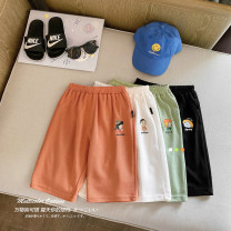 trousers Small die male 80cm,90cm,100cm,110cm,120cm,130cm White, green, black, pink, orange summer Cropped Trousers leisure time There are models in the real shooting Casual pants Leather belt middle-waisted Cotton blended fabric Open crotch Other 100% X1808