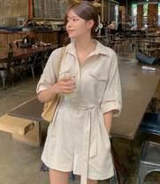 Casual pants Khaki, beige Average size Summer 2020 shorts Jumpsuit commute Korean version