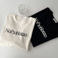 T-shirt White, black Average size Spring 2021 Short sleeve Crew neck easy Regular routine commute cotton 96% and above 18-24 years old Korean version youth letter printing