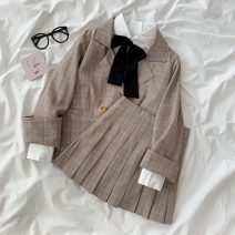 Fashion suit Spring 2021 S. M, average size White shirt, picture color suit 18-25 years old 96% and above polyester fiber