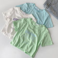 T-shirt Blue, green, white Average size Summer 2021 Short sleeve Crew neck Self cultivation have cash less than that is registered in the accounts routine commute cotton 96% and above 18-24 years old classic