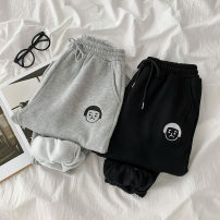 Casual pants Gray, black Average size Spring 2021 trousers Haren pants High waist commute thickening 18-24 years old 51% (inclusive) - 70% (inclusive) polyester fiber Korean version pocket cotton