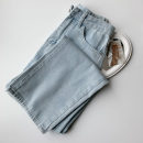 Jeans Spring 2021 blue S,M,L trousers High waist Straight pants routine 18-24 years old Zipper, button, multiple pockets Cotton denim light colour 96% and above