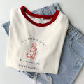 T-shirt white Average size Spring 2021 Short sleeve Crew neck easy Regular routine commute cotton 96% and above 18-24 years old Korean version classic Letters, characters printing
