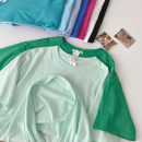 T-shirt Black, sapphire blue, lake blue, sky blue, rose red, white, fog blue, grass green, mint green M,L,XL Summer 2021 Short sleeve Crew neck easy Regular routine commute cotton 51% (inclusive) - 70% (inclusive) 18-24 years old Korean version classic Solid color