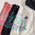 T-shirt Black, white, skin red M,L,XL Spring 2021 Long sleeves Crew neck easy Regular routine commute cotton 96% and above 18-24 years old Korean version youth Solid color