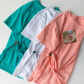 T-shirt Green, white, pink Average size Summer 2021 Short sleeve Crew neck Straight cylinder Regular routine commute cotton 96% and above 18-24 years old Korean version classic