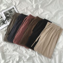 Casual pants Black, dark gray, apricot, bean paste, grey blue, coffee Average size Spring 2021 trousers Wide leg pants High waist commute routine 18-24 years old 51% (inclusive) - 70% (inclusive) Korean version pocket cotton