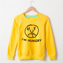 Sweater / sweater Spring of 2019 White, light gray, orange, red, yellow, light green, green, blue XS,S,M,L,XL,2XL Long sleeves routine Socket singleton  Plush Crew neck easy commute routine Cartoon animation 18-24 years old 30% and below Qiqu clothing Korean version cotton bw190116 printing cotton