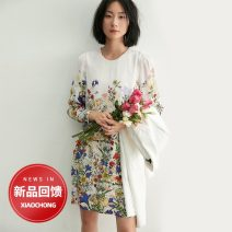 Dress Spring 2021 The sound of birds and the fragrance of flowers S,M,L,XL Mid length dress singleton  Long sleeves commute Crew neck middle-waisted Decor Socket other routine 30-34 years old Type A Insect TE0QLY044 More than 95% other other
