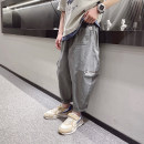 trousers Other / other male 120cm / 120, 130cm / 130, 140cm / 140, 150cm / 150, 160cm / 160, 170cm / 170 Black, gray, black reservation, gray reservation summer trousers fashion There are models in the real shooting Big PP pants Leather belt middle-waisted Cotton blended fabric Don't open the crotch