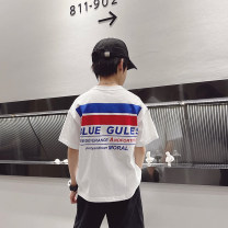 T-shirt White, white reservation Other / other 120cm / 120, 130cm / 130, 140cm / 140, 150cm / 150, 160cm / 160, 170cm / 170 male summer Short sleeve Crew neck Korean version There are models in the real shooting nothing cotton other Cotton 90% other 10% --
