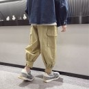 trousers Other / other male 120cm / 120, 130cm / 130, 140cm / 140, 150cm / 150, 160cm / 160, 170cm / 170 summer trousers leisure time There are models in the real shooting Overalls Leather belt middle-waisted Cotton blended fabric Don't open the crotch -- --
