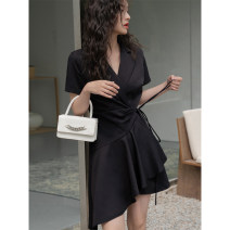 Dress Summer 2021 black S,M,L Middle-skirt singleton  commute High waist Solid color 18-24 years old Type A LOVEHEYNEW Korean version