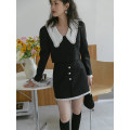 Fashion suit Spring 2021 S, M black 18-25 years old LOVEHEYNEW Xcb02b-3068 pearl placket suit 51% (inclusive) - 70% (inclusive)