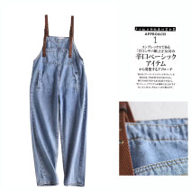 Jeans Summer 2020 blue S,L,M trousers Natural waist rompers routine 18-24 years old washing other light colour Other / other 31% (inclusive) - 50% (inclusive)