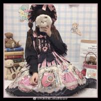 Lolita / soft girl / dress Bard's poem Lolita Pink black jsk (pre-sale, April shipment), pink black BNT (upgrade, April shipment), blue white jsk, blue white BNT, pink black BNT (pre-sale, April shipment) Small (95-110), large (130-150), medium (110-130) Spring, spring and Autumn goods in stock