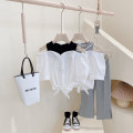 T-shirt Black stitching, stripe stitching~ Other / other Hang tag 5 / 100, recommended height 90cm, hang tag 7 / 110, recommended height 100cm, hang tag 9 / 120, recommended height 110cm, hang tag 11 / 130, recommended height 120cm, hang tag 13 / 140, recommended height 130cm female Crew neck other
