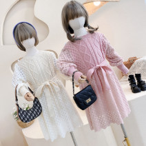 Dress Pink to bare powder ~ spot, beige to card ~ spot female Other / other Size 5, recommended height 95cm, size 7, recommended height 105cm, size 9, recommended height 115cm, size 11, recommended height 125cm, size 13, recommended height 135cm Other 100% spring and autumn Long sleeves other cotton