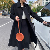 skirt Winter of 2019 Average size Brown, black, camel yellow Mid length dress High waist skirt Solid color Type H knitting