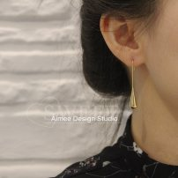 Earrings Titanium steel 40-49.99 yuan Aimee Design Gold single gold pair brand new female goods in stock