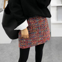skirt Spring of 2019 XS,S,M,L,XL,2XL,3XL Red, black Short skirt Versatile High waist A-line skirt Decor Type A 18-24 years old 81% (inclusive) - 90% (inclusive) Wool polyester fiber 251g / m ^ 2 (including) - 300g / m ^ 2 (including)