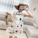Dress Summer of 2018 Apricot S M L Mid length dress singleton  Sleeveless commute Crew neck Loose waist Solid color Socket 18-24 years old Type A Korean version [E31M] Chiffon