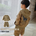 suit Bobo pig Khaki, khaki (pre sale) [tag 100], [tag 110], [tag 120], [tag 130], [tag 140], [tag 150] male summer leisure time Long sleeve + pants 2 pieces There are models in the real shooting No detachable cap other cotton C121G2925 Class B Cotton 100% Chinese Mainland