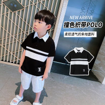 T-shirt black Bobo pig [tag 90], [tag 100], [tag 110], [tag 120], [tag 130], [tag 140], [tag 150] male summer Short sleeve leisure time There are models in the real shooting nothing cotton other Cotton 95% polyurethane elastic fiber (spandex) 5% Class B Two, three, four, five, six, seven, eight, nine
