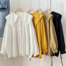 shirt White, yellow, khaki, black Average size Spring 2021 cotton 96% and above Long sleeves Regular Solid color 18-24 years old Other / other