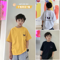 T-shirt White, black, yellow Other / other 130, 140, 150, 160, 170 male summer Short sleeve Crew neck Korean version There are models in the real shooting nothing cotton other Cotton 95% other 5% XHQ12TX1309 Class B other Chinese Mainland Guangdong Province Guangzhou City