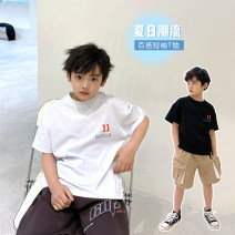 T-shirt White, black Other / other 130, 140, 150, 160, 170 male summer Short sleeve Crew neck Korean version There are models in the real shooting nothing cotton other Cotton 95% other 5% DWBLQ12TX1206 Class B other Chinese Mainland Guangdong Province Guangzhou City