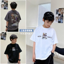 T-shirt White, black, dark grey, white pre-sale, black pre-sale, dark grey pre-sale Other / other 130, 140, 150, 160, 170 male summer Short sleeve Crew neck Korean version There are models in the real shooting nothing cotton other Cotton 95% other 5% XHQ12TX1337 Class B other Chinese Mainland