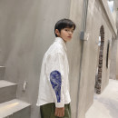 shirt white Other / other male 130, 140, 150, 160, 170 spring Long sleeves Korean version Solid color cotton Lapel and pointed collar Cotton 50% polyester 50% TSQ11CS1106 Class B