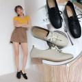 Low top shoes 35 36 37 38 39 Tim Shang BEIGE BLACK Square head Thick heel PU Midmouth Middle heel (3-5cm) PU Summer of 2018 Frenulum Korean version PU