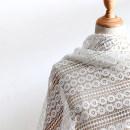Fabric / fabric / handmade DIY fabric Others White / 1.3m wide Whole volume piece Geometric pattern other Other hand-made DIY fabrics Europe and America