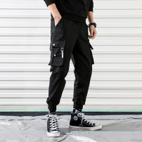 Casual pants Mz10 / 10 per week Youth fashion Black grey S M L XL 2XL 3XL 4XL 5XL Ninth pants Other leisure easy PU Spring of 2019