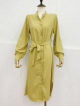 Dress Spring 2021 Yellow, off white, black, light khaki M, L Mid length dress singleton  Single breasted D.SIXTH