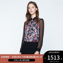 shirt BLUSH PRINT 2,4,6,8,10,12,14 Spring of 2019 polyester fiber 96% and above Long sleeves Versatile Regular other other shirt sleeve Broken flowers 25-29 years old Self cultivation Ports LN8B078HPP027