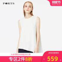 shirt CREAM 2,4,6,8,10 Spring of 2018 polyester fiber 30% and below Sleeveless Original design Regular Crew neck routine Solid color 25-29 years old Straight cylinder Ports ALA8B007KWB008