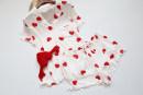 Pajamas / housewear set female Other / other Average size Nightdress short sleeve shorts suit cotton summer heart-shaped