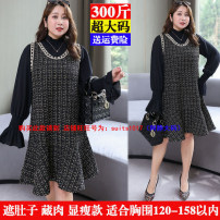Women's large Winter 2020, autumn 2020 Two piece set 4XL,5XL,6XL,7XL,8XL Dress Two piece set commute easy thickening Conjoined Long sleeves other Korean version Half high collar Three dimensional cutting 25-29 years old 51% (inclusive) - 70% (inclusive)