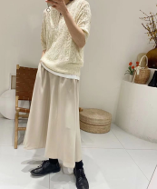 skirt Winter 2020 M-120 Jin, l-140 Jin Black, apricot, blue longuette Versatile Natural waist other Solid color Type A 25-29 years old 81% (inclusive) - 90% (inclusive) brocade other