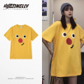 T-shirt Youth fashion Yellow, cyan grey routine S,M,L,XL,2XL,3XL HEYBIG Short sleeve Crew neck Self cultivation Other leisure Four seasons THDX4994ZT Cotton 100% teenagers routine Hip hop other 2017 other printing cotton