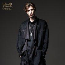 Jacket Pinli Fashion City black M170,L175,XL180,XXL185,XXXL190 routine standard Other leisure autumn Polyester fiber 93.3% polyurethane elastic fiber (spandex) 6.7% Long sleeves Wear out tide youth routine Cloth hem Closing sleeve Solid color