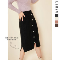 skirt Winter 2020 L,S,M Off white (spot), black (spot), brown (spot), pink orange (spot) Middle-skirt Sweet High waist 18-24 years old CWGFA4X06 30% and below other Leting polyester fiber solar system