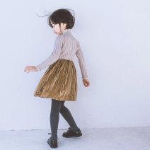 skirt #5(100cm),#7(110cm),#9(120cm),#11(130cm),#13(140cm),#15(150cm) Purple spot, yellow brown spot Other / other female Other 100% winter skirt Korean version Solid color Pleats flannelette